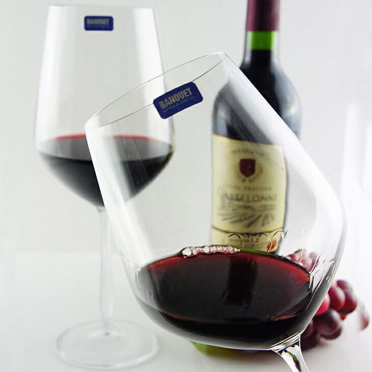 【曉風】水晶紅酒杯6入裝*《Banquet Crystal 歐洲水晶酒杯 800ml★美食家典藏版》 0