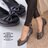 格子舖*【ADP524】台灣製 OL上班穿搭必備 甜美 蝴蝶結 圓頭平底包鞋 娃娃鞋 懶人鞋 2色 0
