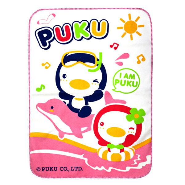 PUKU藍色企鵝 - 超柔防濕墊 55x80cm (水藍/粉紅) 3