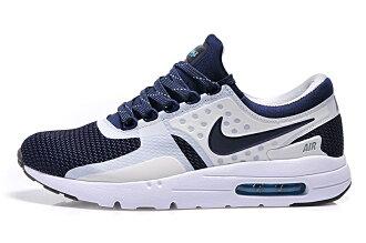 Nike Air Max Zero 87系列 眾星代言 氣墊跑步鞋 奧利奧運動鞋 男女鞋子 (深藍白情侶款)