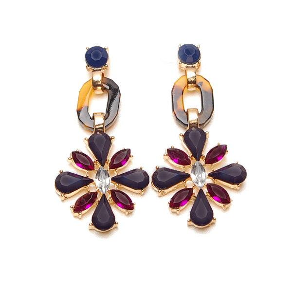 Bordeaux Bijou Dangle Pierces波多爾垂墬穿式耳環
