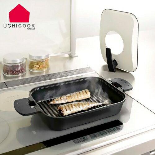 《逸品軒》UCHICOOK第二代日本製水蒸氣式健康蒸煮燒烤盤[金屬蓋]-黑(UCS15BK)