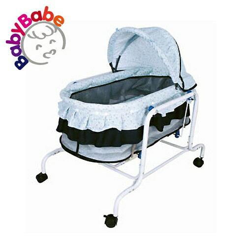 【BabyBabe】電動水平搖床/藍色小花