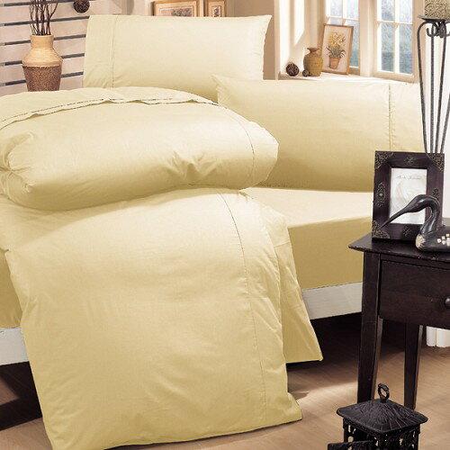 《HongYew》輕‧糖果色系素面  雙人加大三件式床包組─鍾情卡其 1165_DMM04