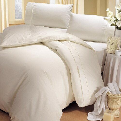 《HongYew》輕‧糖果色系素面  雙人三件式床包組─白色純真 1165_D07