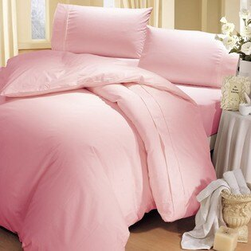 《HongYew》輕‧糖果色系素面  雙人三件式床包組─粉紅佳人 1165_D08