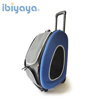 【IBIYAYA】五彩繽紛寵物拉桿後背包/寶藍海洋