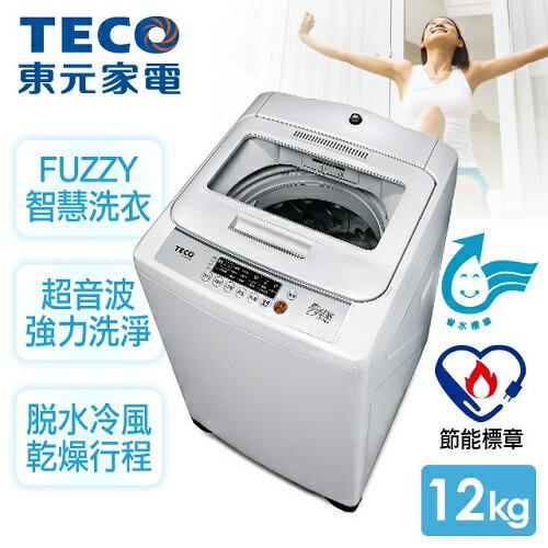 ★預購★【東元TECO】12kg晶鑽內槽超音波單槽洗衣機/W1209UN
