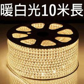 【鄉野情戶外專業】 露營專用LED5050 加寬防水燈條(暖白光)/露營燈 串燈 裝飾燈/附收納袋 【10米 附插頭】