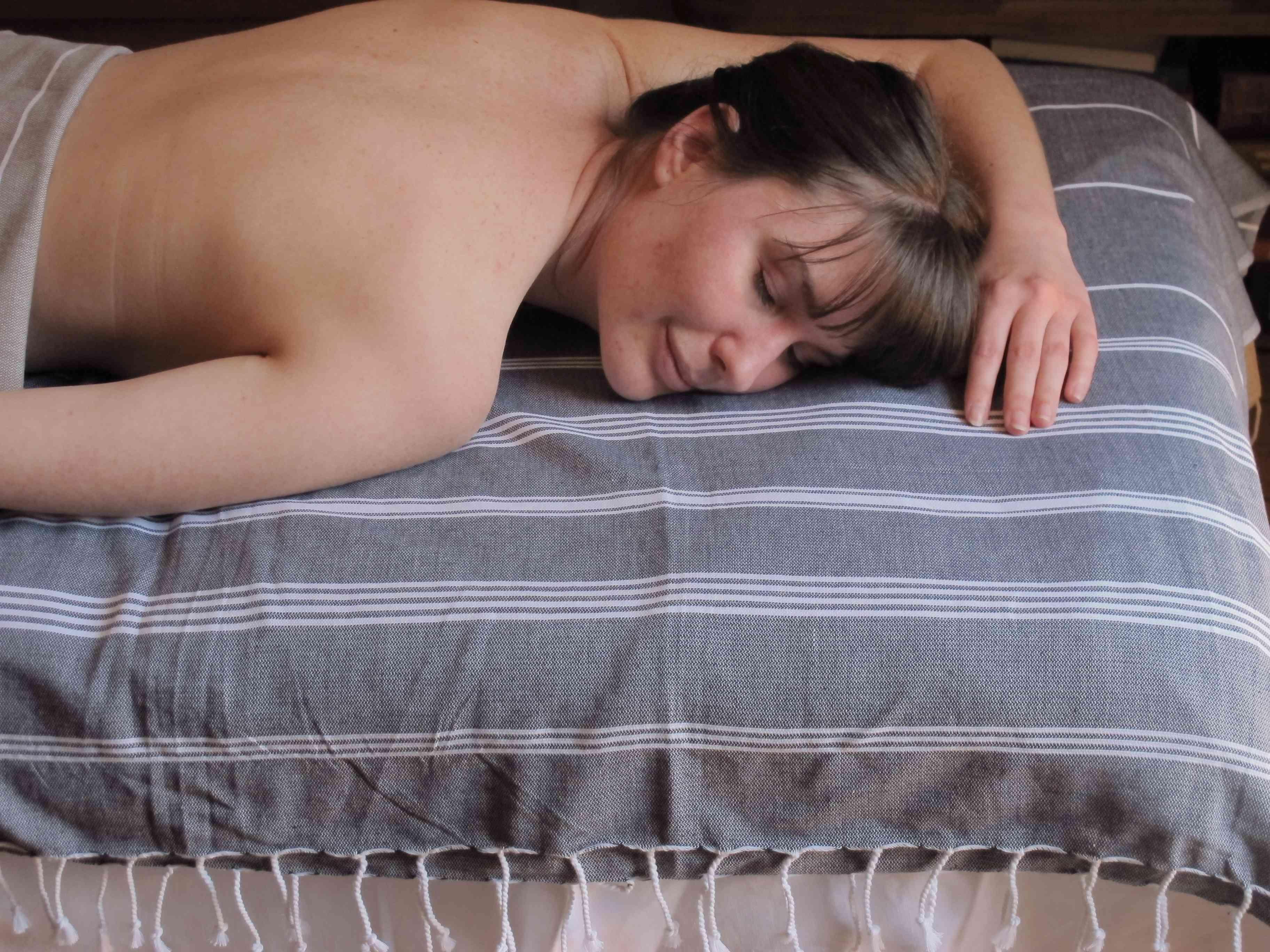 『法國原裝』獨家代理 - 100% Coton Organic  有機綿 (超吸水)歐洲經典 橘色條紋大浴巾 Foutas  2