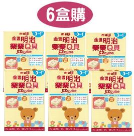 『121婦嬰用品』MEIJI金選明治樂樂Q貝-嬰兒0-1歲(6盒)