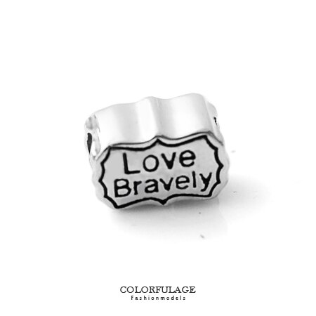 組合字母串珠手鍊 Love Bravely刻字造型穿式鋼墜手環 抗過敏氧化 柒彩年代【NT34】CHARMS - 限時優惠好康折扣