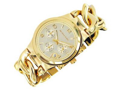 美國Outlet正品代購 MichaelKors MK 玳瑁三環 手鍊 手錶 腕錶 MK3131 3