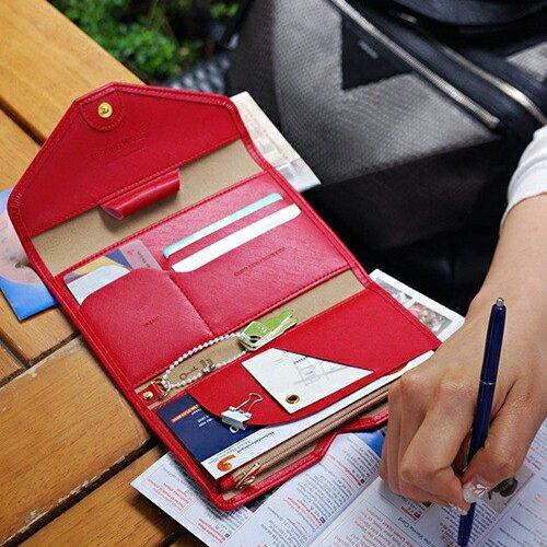 ☆BOBI☆02/25素色皮面多分層長夾 拉鍊皮夾錢包卡包護照包【PS003】