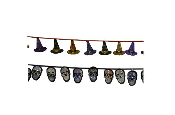 X射線【W275209】2公尺雷射萬聖造型串,萬聖節/櫥窗/佈置/裝飾/擺飾/會場佈置/壁貼/布旗/店面裝飾/道具/吊飾