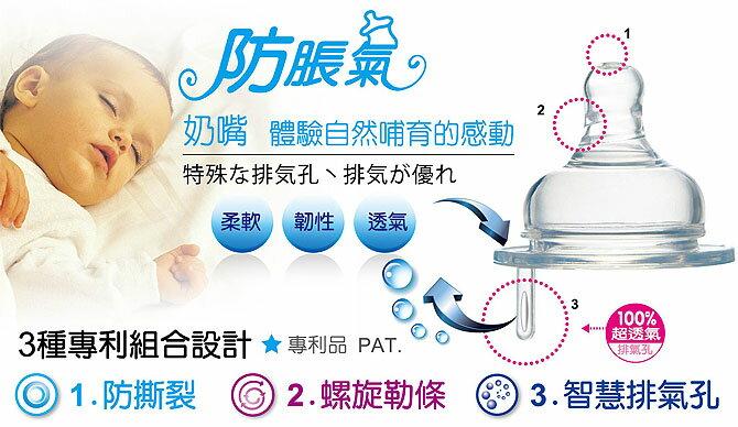 『121婦嬰用品館』辛巴 防脹氣寬口十字奶嘴 M - 4入 1