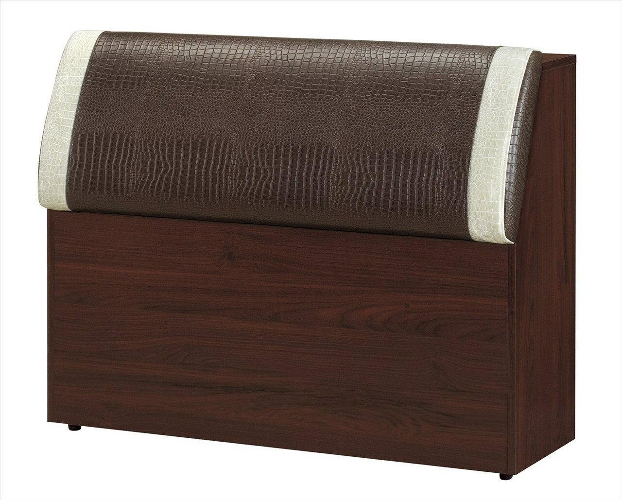 ~石川家居~EF~119~8 艾菲爾胡桃3.5尺鱷魚紋床頭箱 ^(不含 ^) 需 車趟 ~