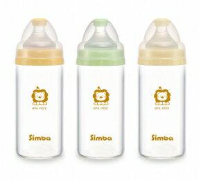 台灣【Simba 小獅王】超輕鑽寬口直圓玻璃小奶瓶-1瓶入(180ml) 花色隨機 S6909 0
