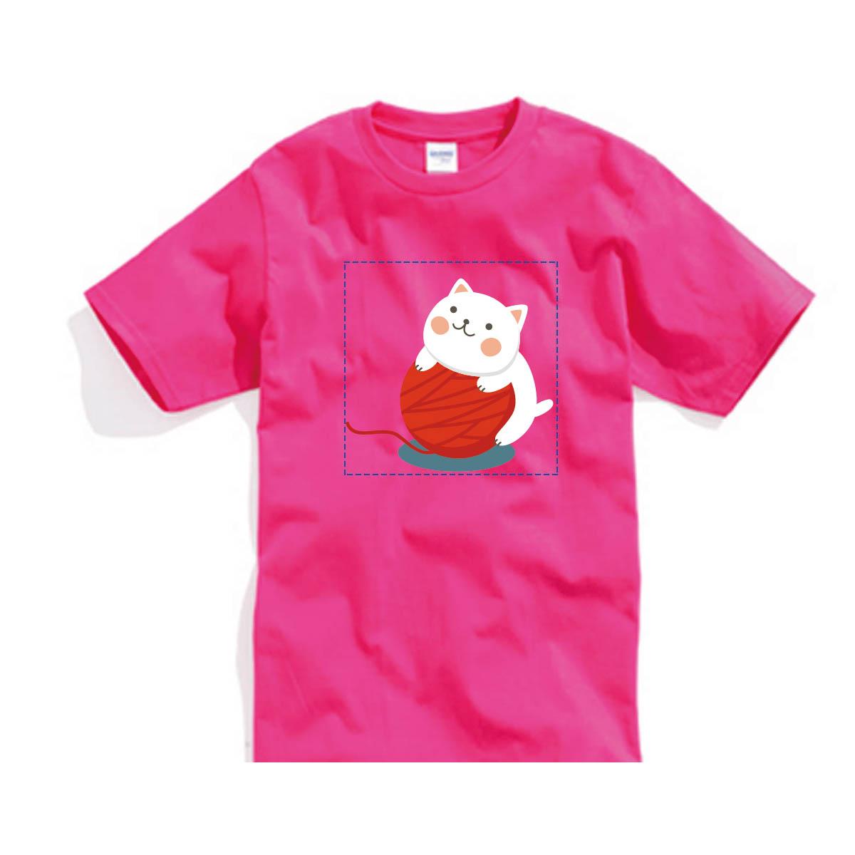 ✨ 喵星2系列✨自己的T恤自己做-色T!100%純棉台製棉T素材!一件也可以做!多件另有優惠!歡迎團體訂做!BSP喵星系001_毛球喵_B 0