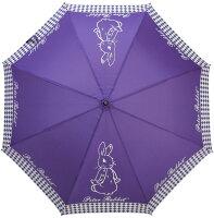 下雨天推薦雨靴/雨傘/雨衣推薦AnniesFriends 比得兔 Peter Rabbit 雨傘-紫色側兔 陽直傘
