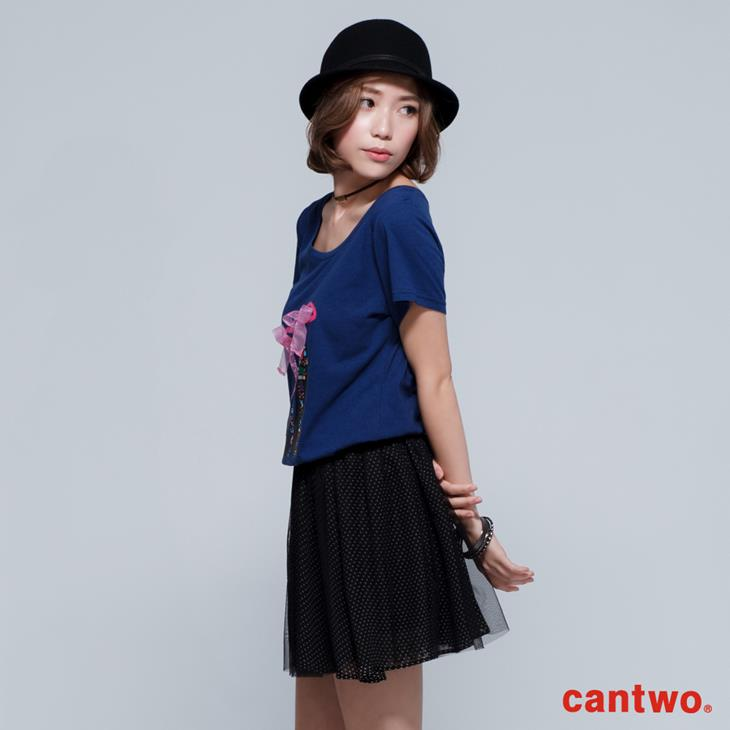 cantwo立體高跟鞋棉T(共三色) 2
