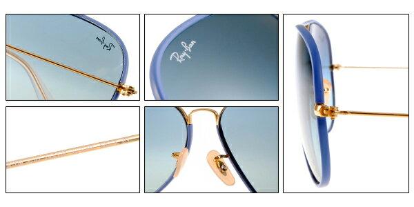 Ray Ban 雷朋  藍色金邊 RB3025JM 太陽眼鏡 7