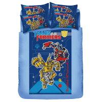 變形金剛-勇氣篇(藍)雙人床包被套組