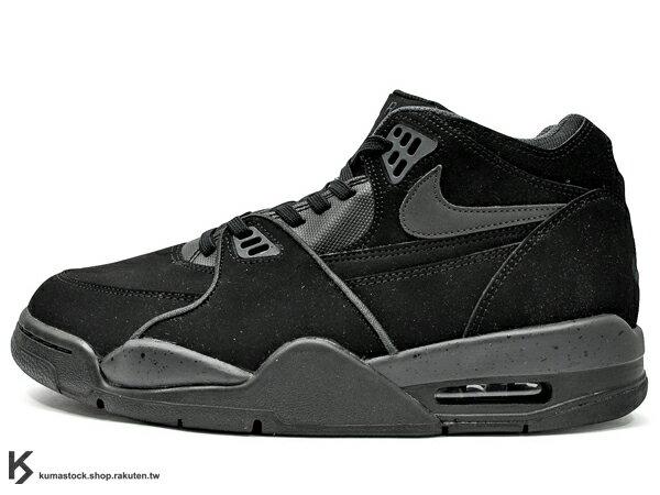 [27.5cm] 海外入荷 台灣未發售 2013 NSW 與 AIR JORDAN 4 IV 同鞋型 1989年 經典復刻 NIKE AIR FLIGHT '89 89 BLACKOUT 全黑 牛巴戈 AJ G-DRAGON GD 著用 (306252-021) !