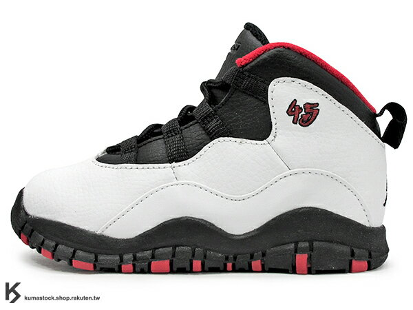 海外入荷 2015 NIKE JORDAN 10 X RETRO BT TD DOUBLE NICKEL 幼童鞋 BABY 鞋 白黑紅 45 CHICAGO BULLS 芝加哥 公牛隊 55 分紀念 AJ AIR (310808-102) !