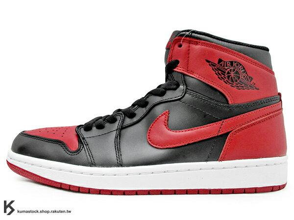 [29cm] 1985 年經典復刻款 九孔鞋洞 2013 鞋舌 NIKE LOGO 標籤 NIKE AIR JORDAN 1 RETRO HIGH OG BRED 黑紅 公牛 皮革 BANNED AJ (555088-023) !