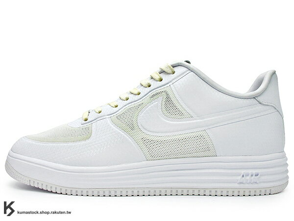 [29cm] 2013 30周年 太空科技 NIKE LUNAR FORCE 1 NRG XXX 全白 白色 米黃 HYPERSFUSE ZOOM AIR 余文樂 (573980-100) !