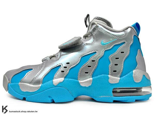 [24.5cm] 2014年 台灣未發售 經典鞋款重新復刻 1996 美式足球 NIKE AIR DT MAX '96 96 GS 銀水藍 亮皮 G-DRAGON GD 韓國藝人愛用 少女時代 (616502-004) !