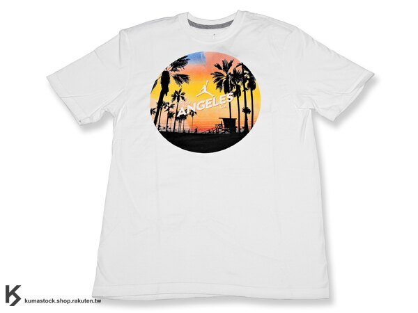 kumastock 美國特別少量入荷 台灣未發售 2014 JORDAN BRAND 城市限定 NIKE JORDAN CITY T-SHIRT TEE LOS ANGELES 洛杉磯 白底 飛人 城市 短T 夏日必備 (651561-100) !