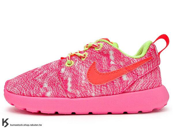 2014 人氣超熱賣 NSW 輕量舒適 NIKE ROSHERUN ROSHE ONE PS TD 幼童鞋 BABY 鞋 小童鞋 童鞋 桃紅 PHYLON 中底 (659374-100) !
