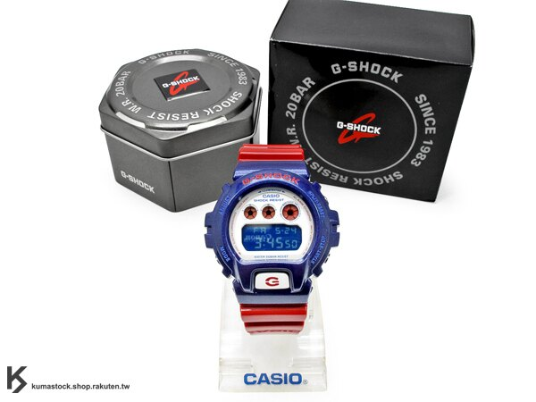 kumastock 最新入荷 2013 30 周年限定機型 CASIO G-SHOCK BLUE AND RED SERIES 系列 DW-6900AC-2DR 藍白紅 鋼鐵愛國者 鋼鐵人亮面錶帶 NEW CRAZY COLOR !