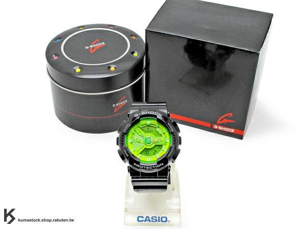 2013 超高人氣 秒殺款式 日本限定款 CASIO G-SHOCK GA-110B-1A3DR 黑螢光綠 黑綠 亮面 !