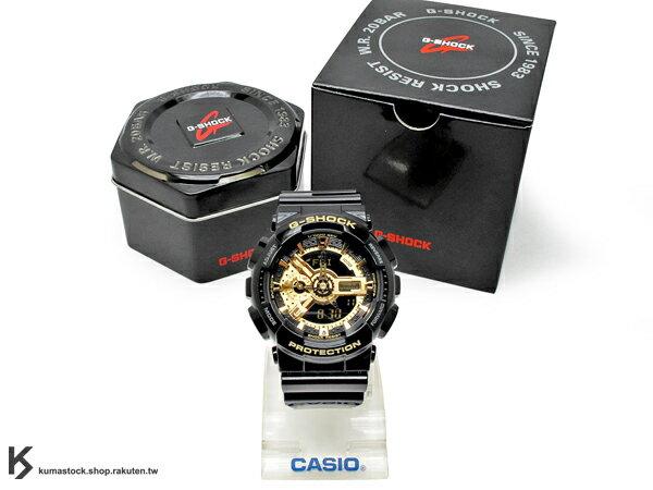 詢問度超高 經典人氣配色 日本限定款 CASIO G-SHOCK GA-110GB-1ADR 黑 黑金 金色 亮面 !