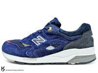 New Balance 美國慢跑鞋/跑步鞋推薦2013 日本知名鞋舖 OSHMAN'S 聯名款 NEW BALANCE CM1600BO 深藍色 深藍紅 麂皮 網布 1600 M1600 ABZORB 避震科技 (CM1600BO)