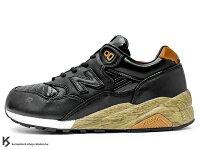 New Balance 美國慢跑鞋/跑步鞋推薦2010年 10周年紀念 限定款 NEW BALANCE x MITA SNEAKERS x real mad HECTIC MT580 BKX 黑色 高級皮革 樹紋 木頭紋 !