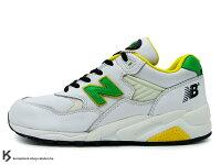 New Balance 美國慢跑鞋/跑步鞋推薦New Balance x Stussy x Masterpiece MT580 WGY三品牌聯名限定 白黃綠 皮質鞋面 (MT580-WGY) !