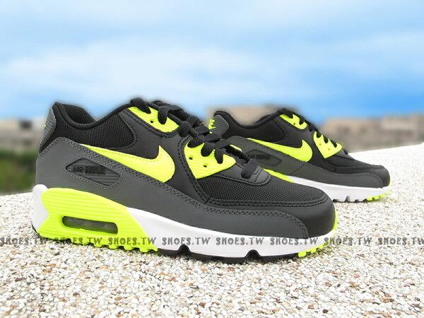 Shoestw【833418-006】NIKE AIR MAX 90 MESH (GS) 黑黃 氣墊 大童鞋 女生
