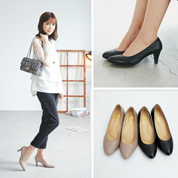 AppleNana。人人必備完美鞋楦絕對好穿羊皮尖頭高跟鞋【QC1301380】蘋果奈奈 6