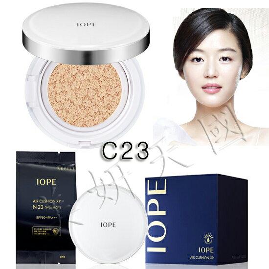 韓國原裝 ~IOPE  XP系列『 Air Cushion 氣墊粉餅 C23號自然膚色(一組2個粉餅芯)』來自星星的你全智賢愛用