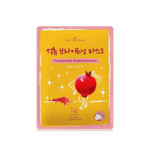 韓國原裝 ~LG化妝品 LACVERT『自然主義-石榴保濕精華液面膜』