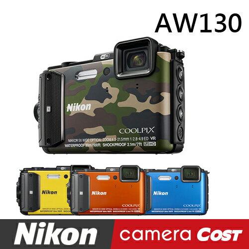 【32G超值11件組】NIKON AW130 防水相機 公司貨 WiFi 防水 防撞 防寒 0
