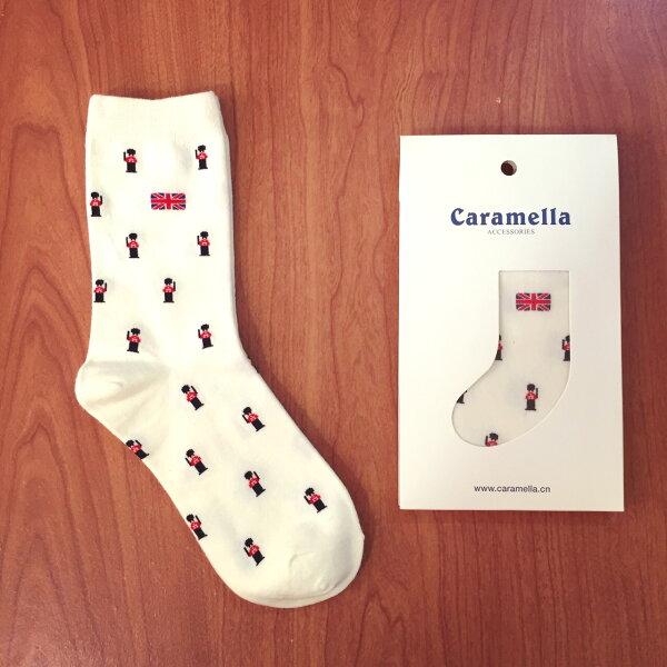 【開幕促銷】Caramella 小士兵-白色 中筒襪 短襪 船襪 隱形襪 五指襪 文青情侶 運動穿搭 阿華有事嗎 C0002