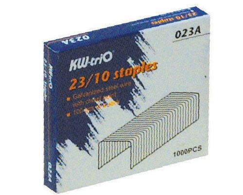 KW -trio 23/10 訂書針 #023A -1000PCS入 / 盒
