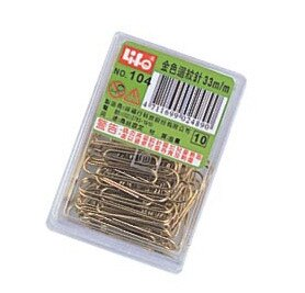 徠福 NO.104 金色迴紋針-50支入 / 盒