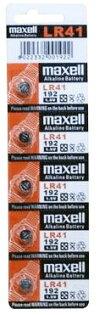 maxell (192)水銀鈕釦電池 LR41 五入裝/卡