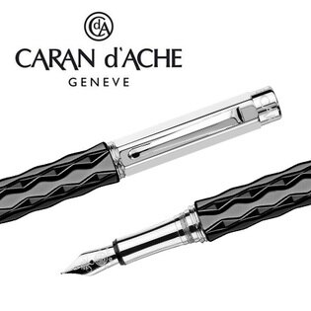 CARAN d'ACHE 瑞士卡達 VARIUS 維樂斯陶瓷鋼筆(黑)-M / 支